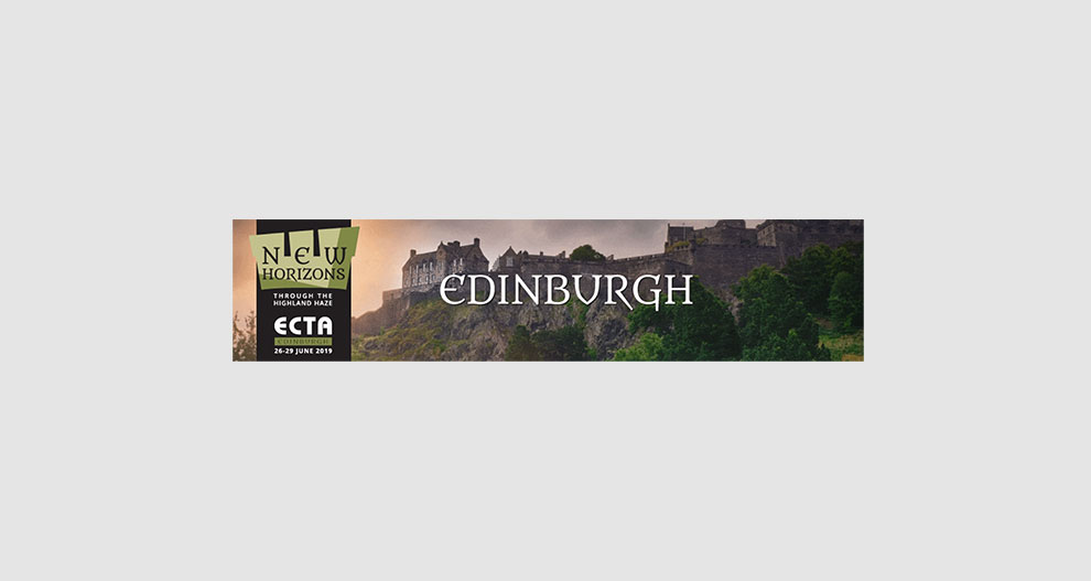 Banner ECTA-Messe in Ediburgh 2019